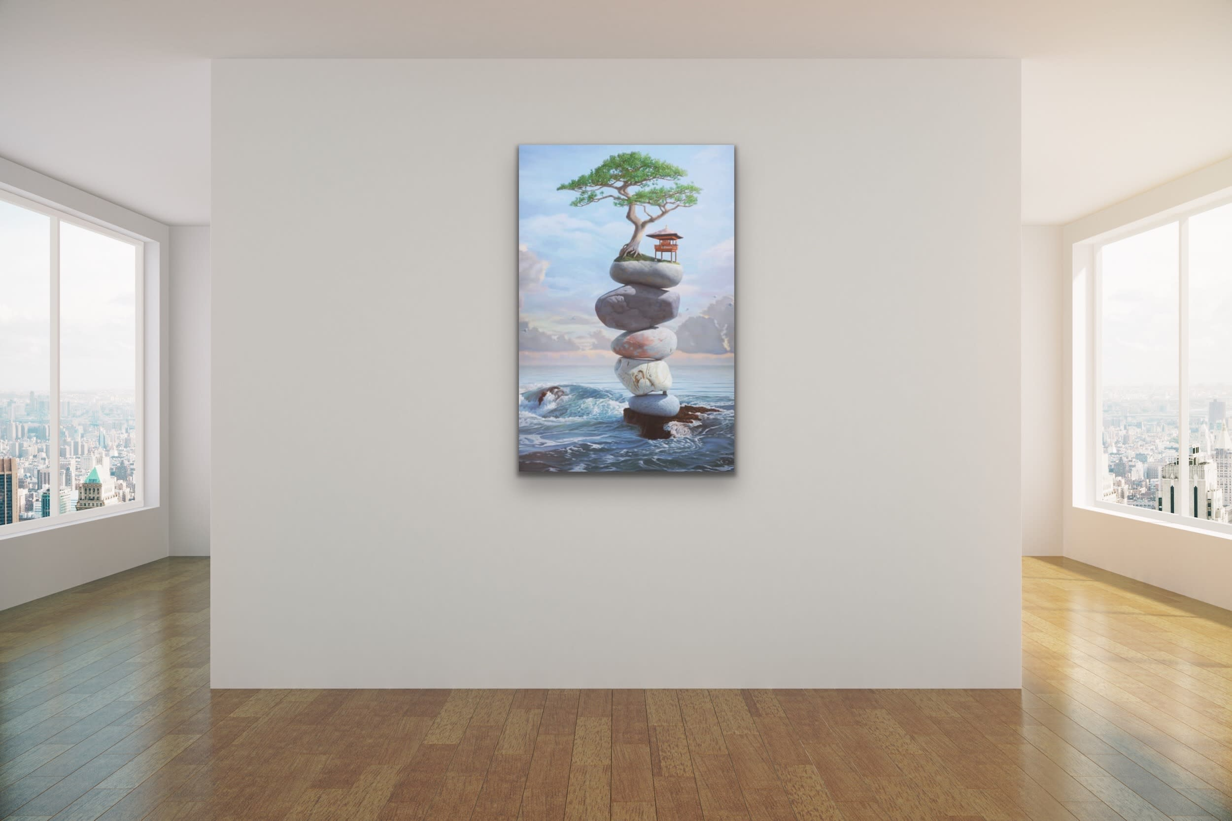 <div class='title'>           Paul Bond Magical Realism Poetry Serene Landscape Animals Nature Surreal Metaphorical Whimsical Fantasy Evo Art Maui Lahaina Front Street Art Gallery 1         </div>
