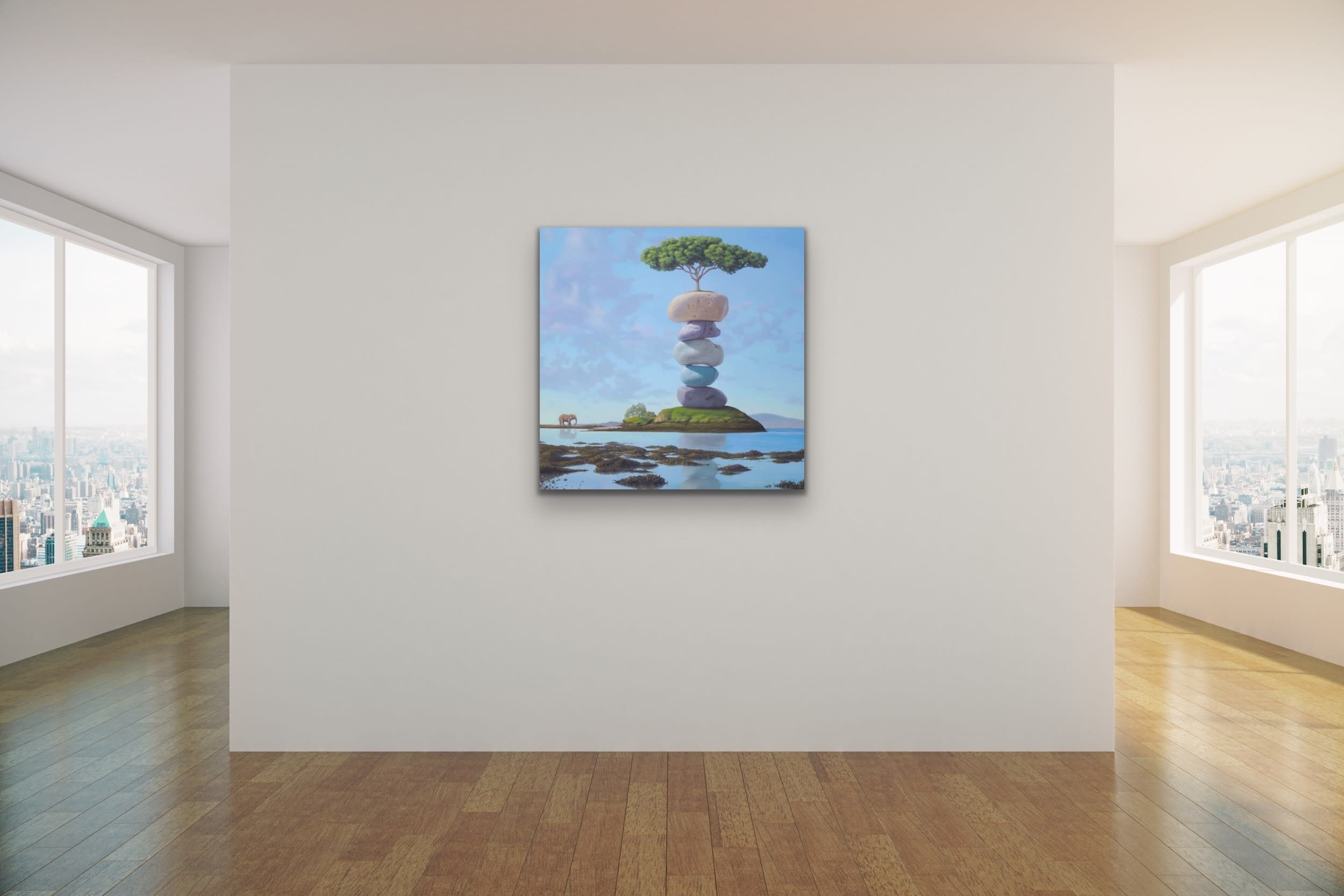 <div class='title'>           Paul Bond Artwork   Evo Art Maui Front St Street Lahaina Maui Hawaii Gallery Higher Purpose New Blue Longhis Surreal Metaphorical Allegorical Fantasy Whimsical Magical Realism Animals Stones Rocks Stacked Nature         </div>