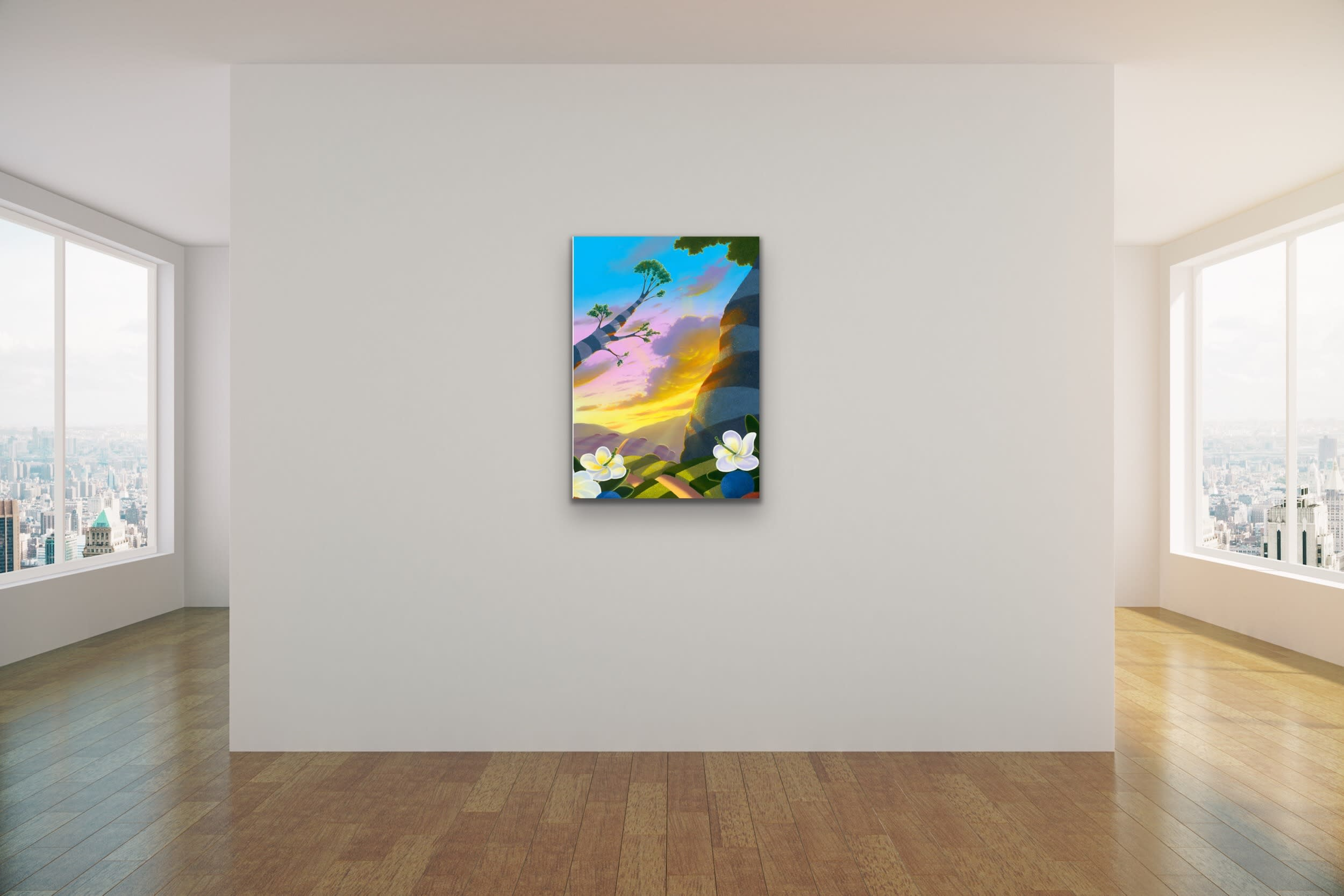 <div class='title'>           Michael Provenza Mock Ups Evo Art Maui Lahaina Gallery Pointilism Disney Artist Dreamscape Surreal Colorful Dots 3         </div>
