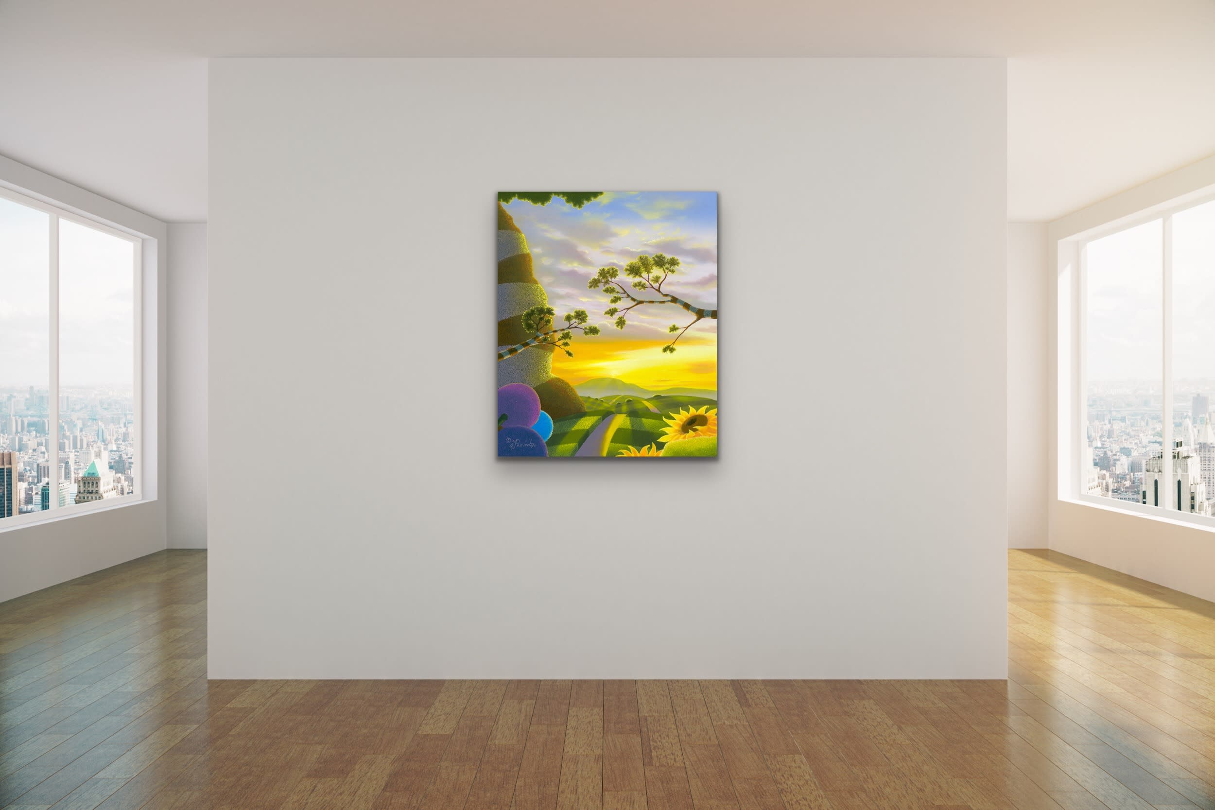 <div class='title'>           Michael Provenza Mock Ups Evo Art Maui Lahaina Gallery Pointilism Disney Artist Dreamscape Surreal Colorful Dots 14         </div>