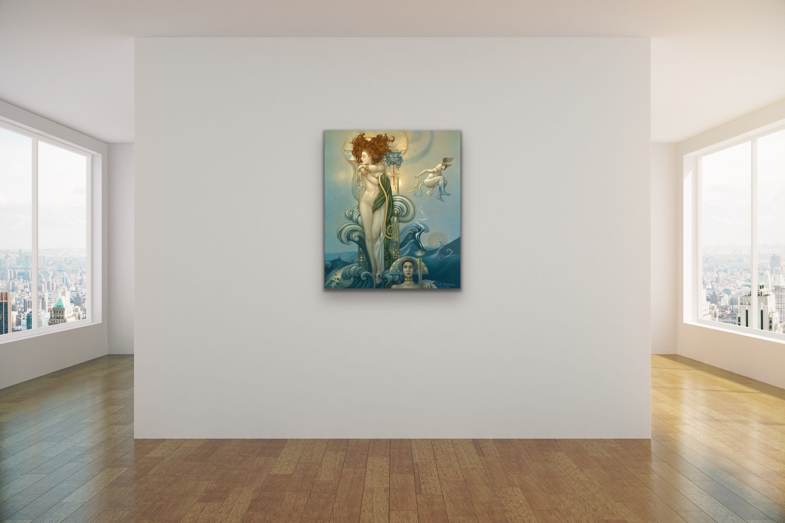 <div class='title'>           Michael Parkes   Classical Contemporary New Art Gallery Lahaina Front Street Maui Evo Famous Metaphorical Magical Surrealism Figurative Angels Mermaids Goblins Fairies 41         </div>
