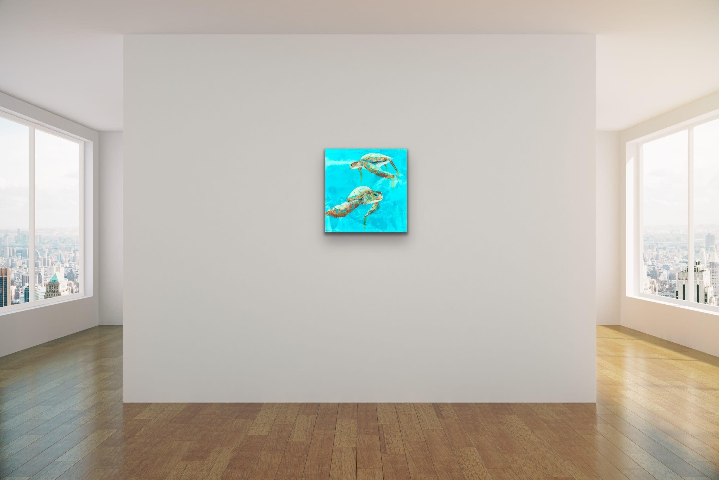 <div class='title'>           John Baran   Turtles Whales Turquoise Resin bright teal aqua aquamarine underwater sea life original evo art maui lahaina gallery front street 4         </div>