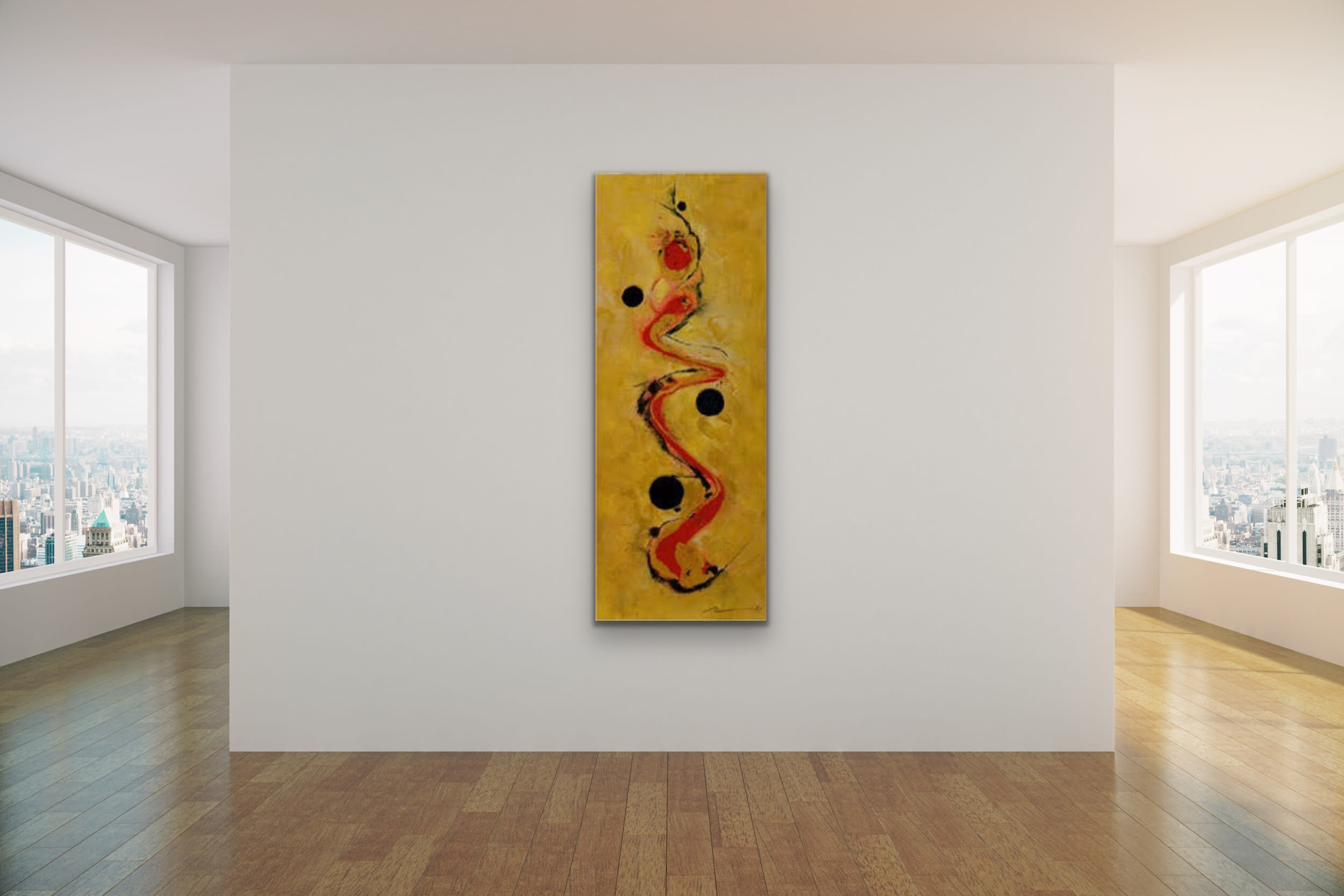<div class='title'>           Romeo Robert Tomei   The Serpent   Front Street Gallery Oriental Red Black Gold Snake 4         </div>