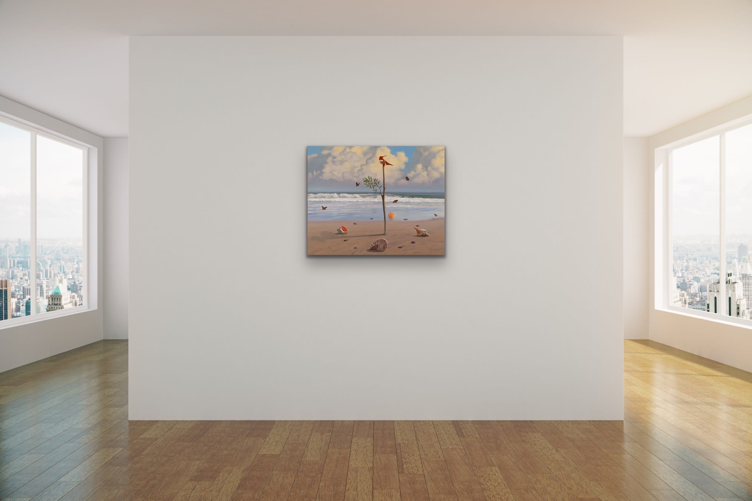 <div class='title'>           Paul Bond   Evo Art Maui The Invention of Time Mock Ups Magical Realism Birds Front Street Gallery Lahaina Hawaii 5         </div>