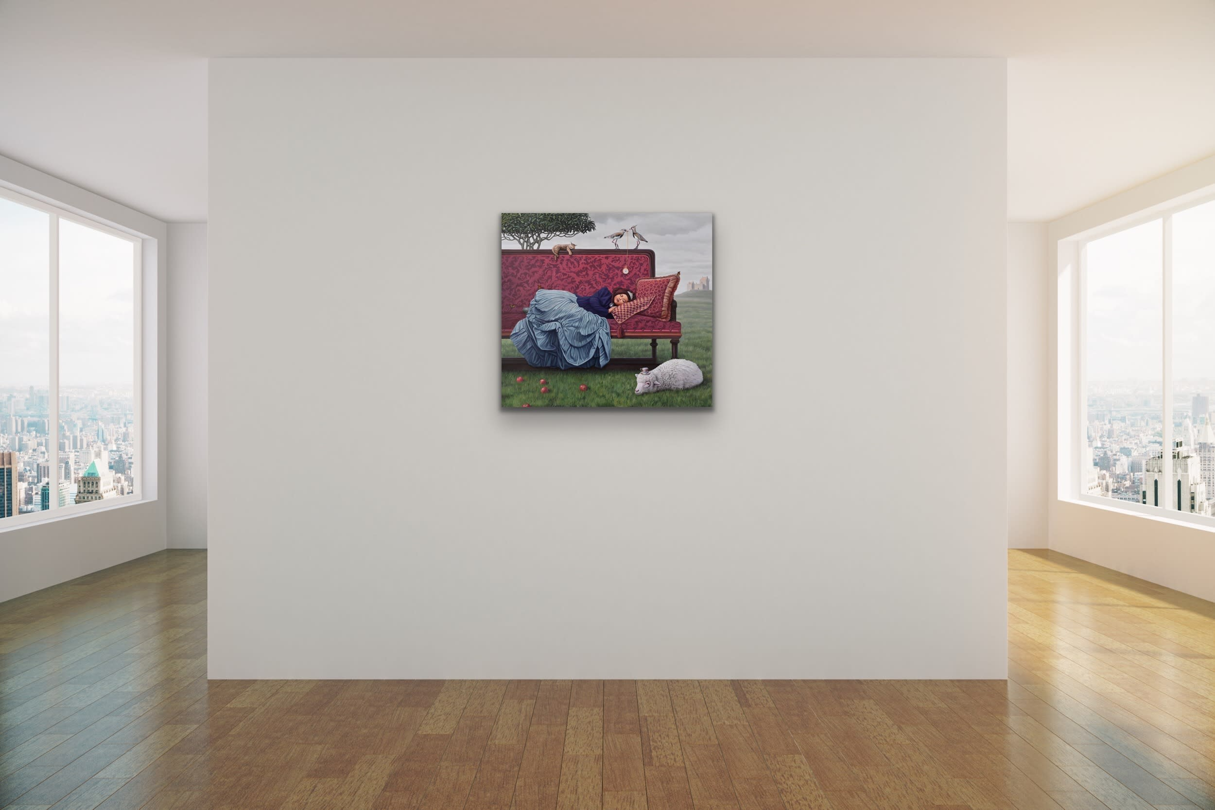 <div class='title'>           Paul Bond   When We Listened for the Passing of Time Mock Up Evo Art Maui Front Street Gallery Lahaina Hawaii Magical Realism 1         </div>