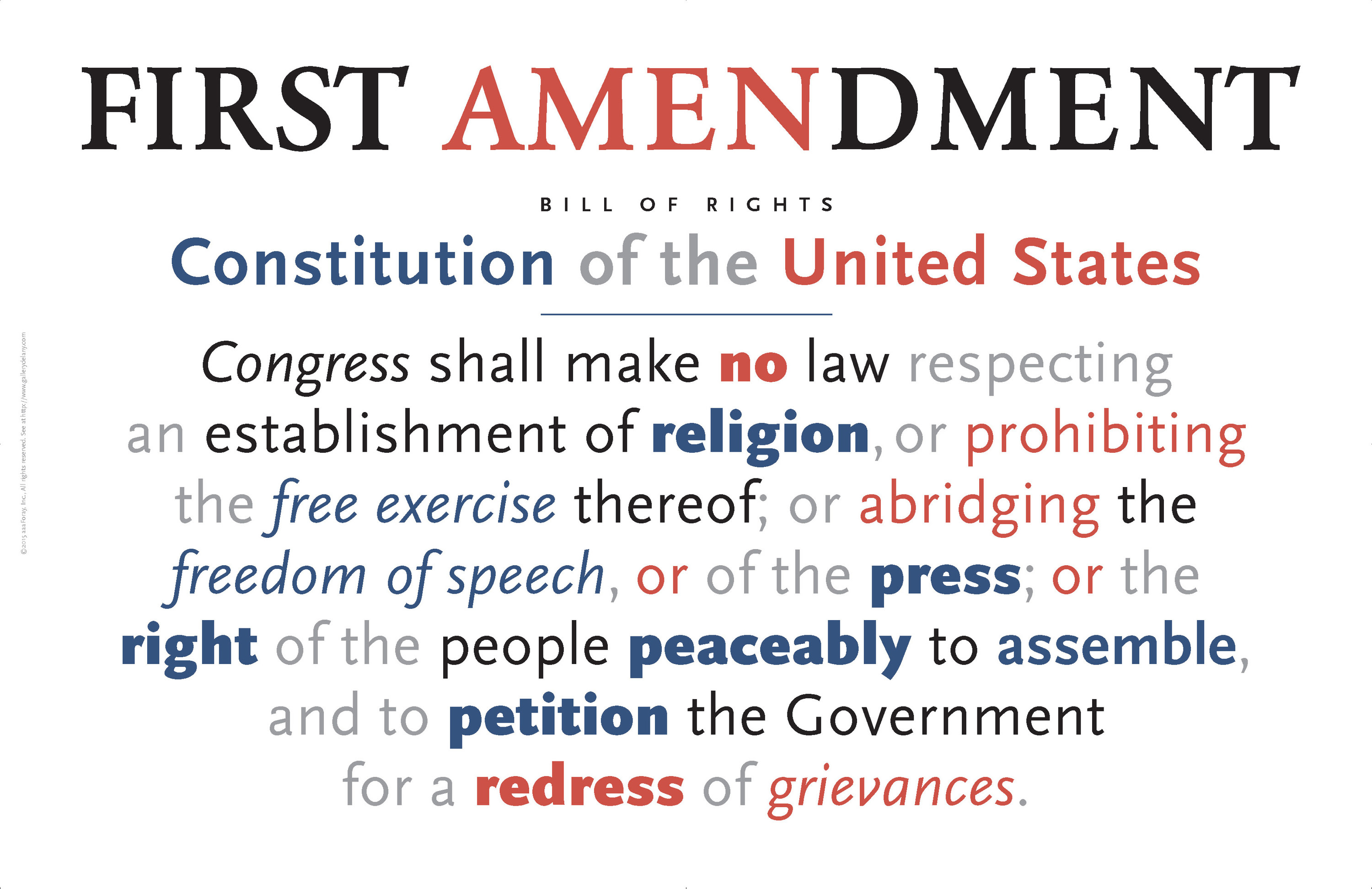 <div class='title'>           First Amendment Americana Poster          </div>                 <div class='description'>           What is more important these days than holding on to our fundamental liberties?          </div>