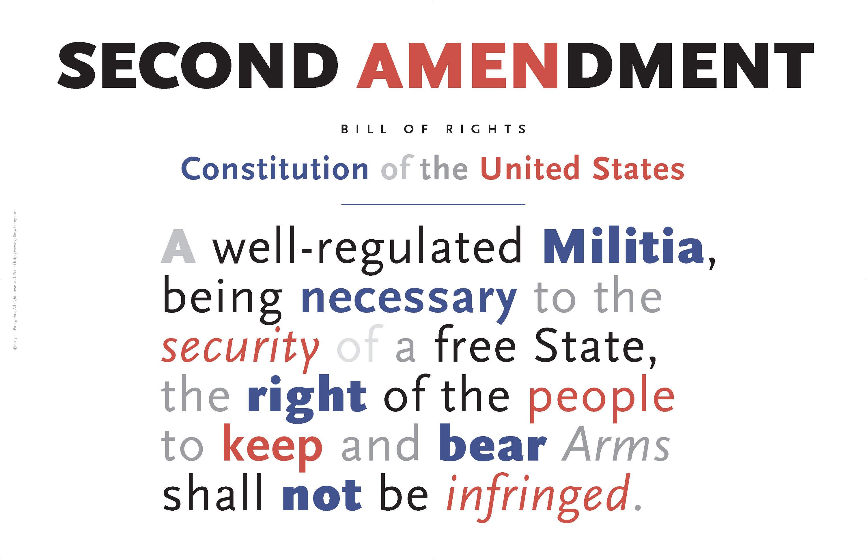 <div class='title'>           Second Amendment Americana Poster          </div>                 <div class='description'>           A key topic of debate these days, much homework to do to protect these basic liberties.          </div>