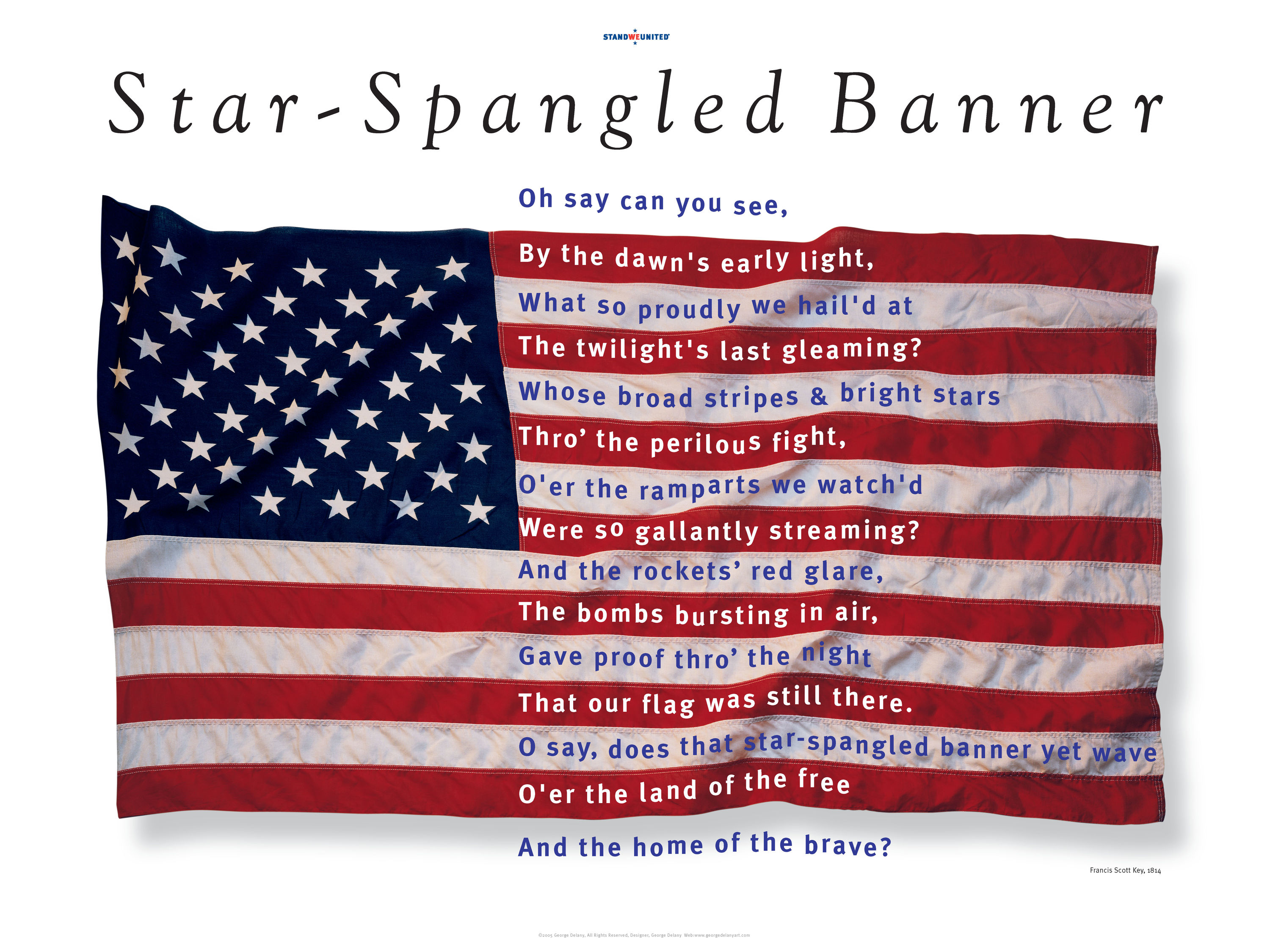 "<div class='title'>           Star-Spangled Banner Poster          </div>                 <div class='description'>           From my first, ""Who We Are Collection"" designed after the attacks of 9.11.01         </div>"