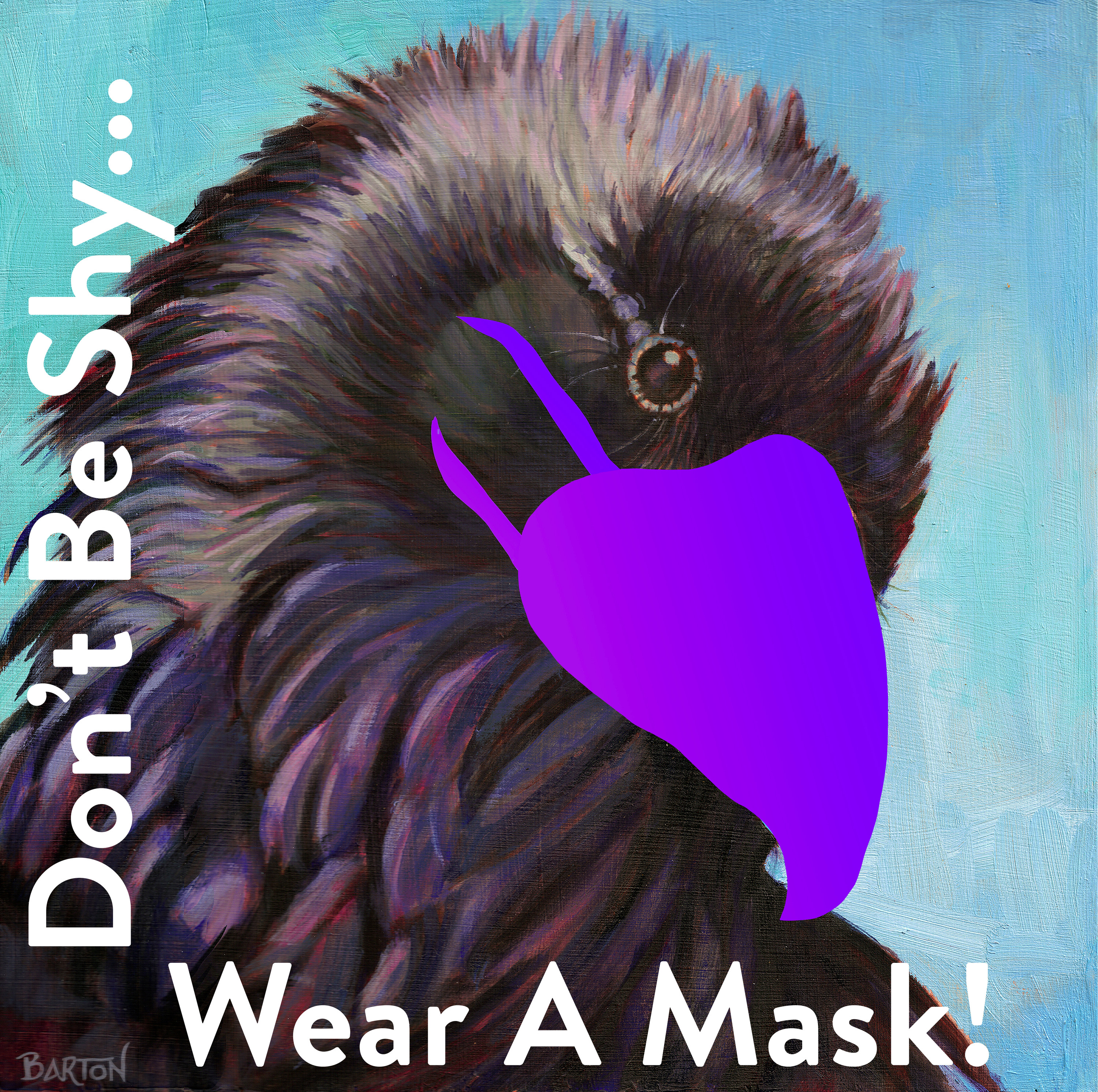 <div class='title'>           Dont be shy wear a mask         </div>