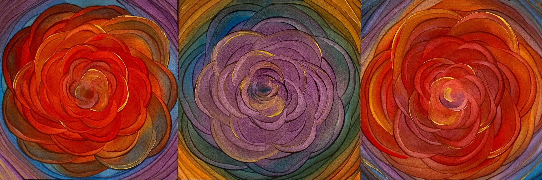 <div class='title'>           Floral Triptych 1   Original         </div>