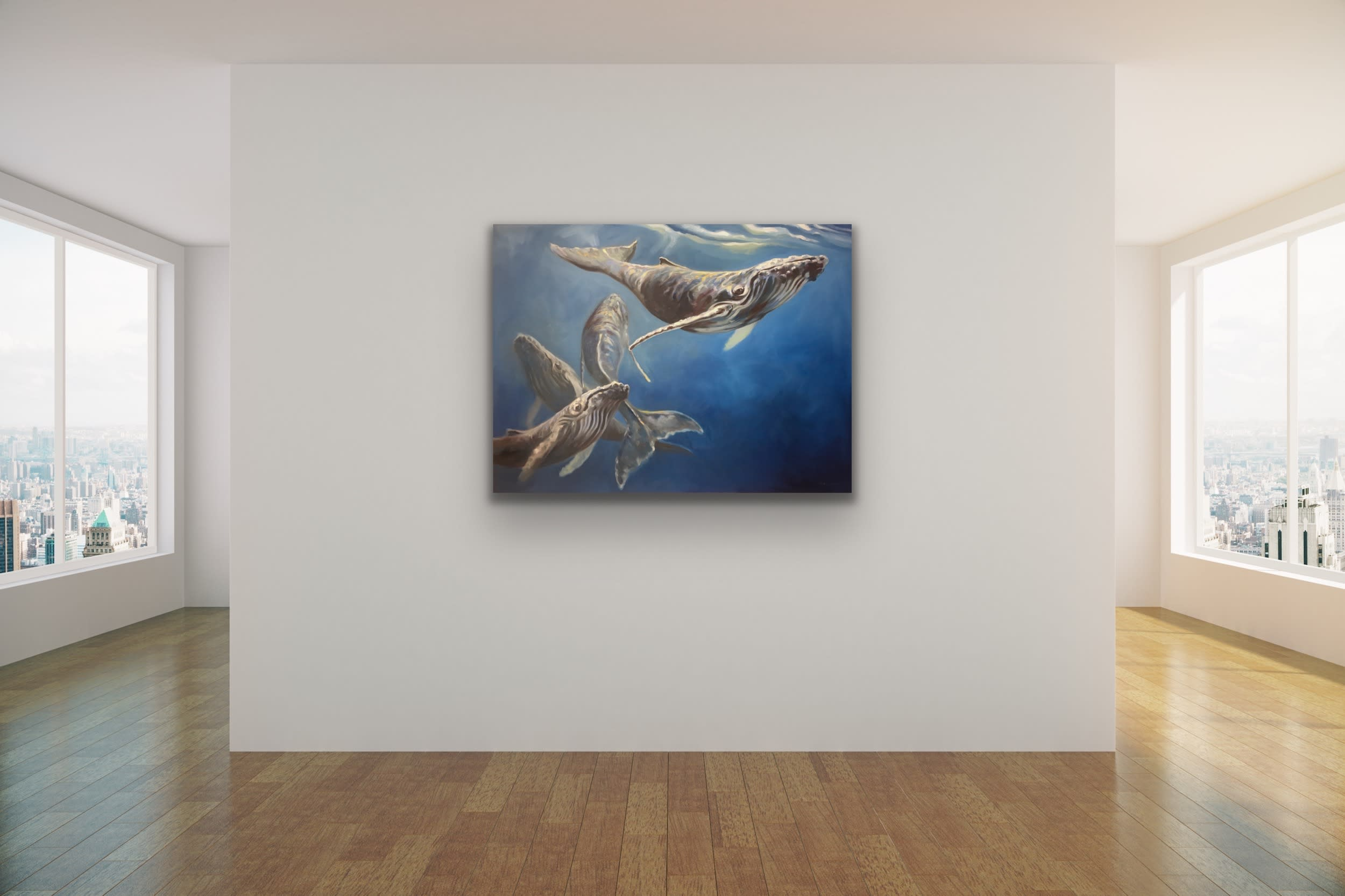 <div class='title'>           Maui Art Gallery   Kindrie Grove Lahaina Artist Whale Painting Sea Ocean Animal Kammy Hodges 2 (1)         </div>