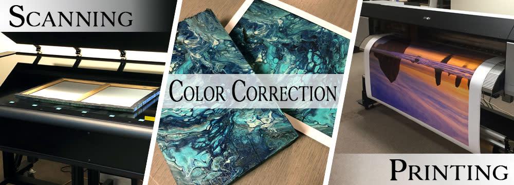 <div class='title'>           Scanning, Color Correction, & Printing         </div>                 <div class='description'>           Professional Artist Services         </div>