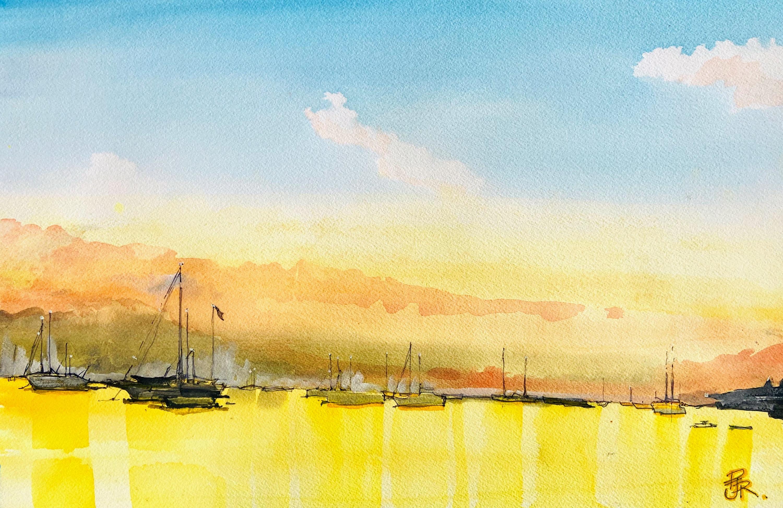 <div class='title'>           best watercolour Boat          </div>