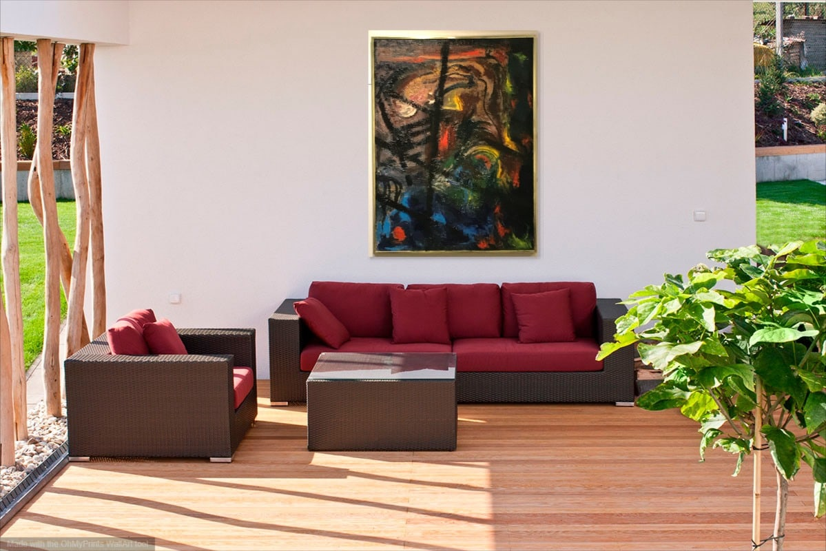 <div class='title'>           ABSTRACT GOLD outdoorroom         </div>