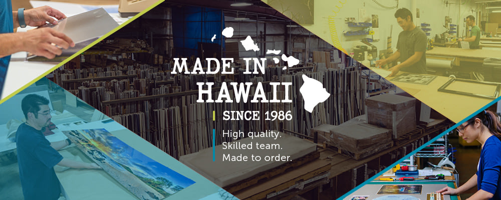 <div class='title'>           Made in Hawaii         </div>                 <div class='description'>           Pictures Plus: Made in Hawaii, since 1986. High quality, skilled team, made to order.         </div>