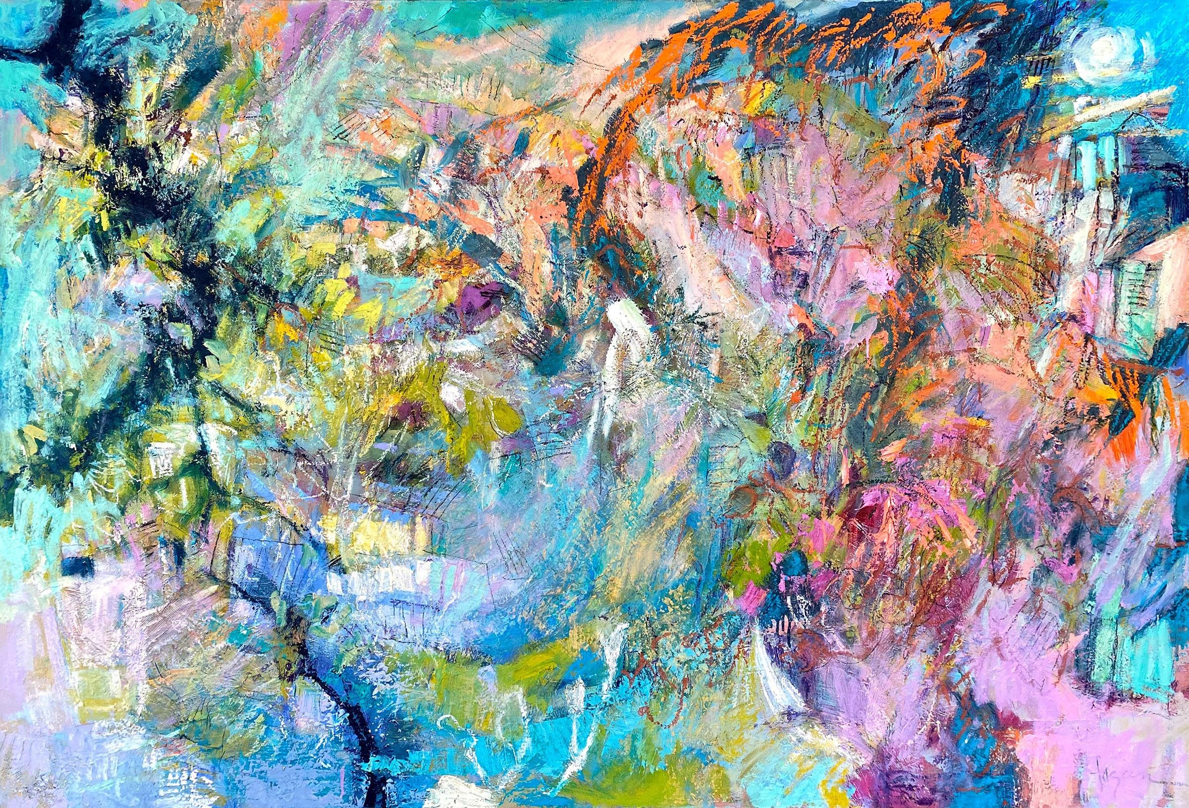 <div class='title'>           Sparkling in My Garden by the Sea         </div>                 <div class='description'>           Original Oil Painting & Large Canvas Print         </div>
