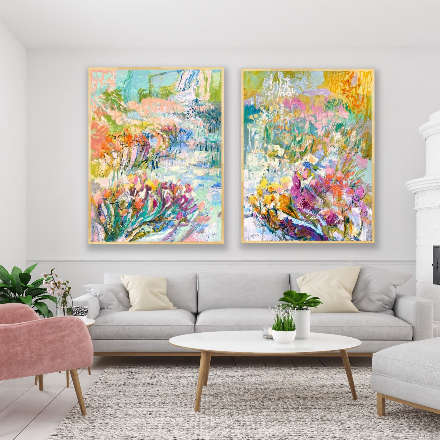 <div class='title'>           Fuse Spirit with Tangerine Dreams         </div>                 <div class='description'>           Joyful Morning and Heavenly Day diptych         </div>