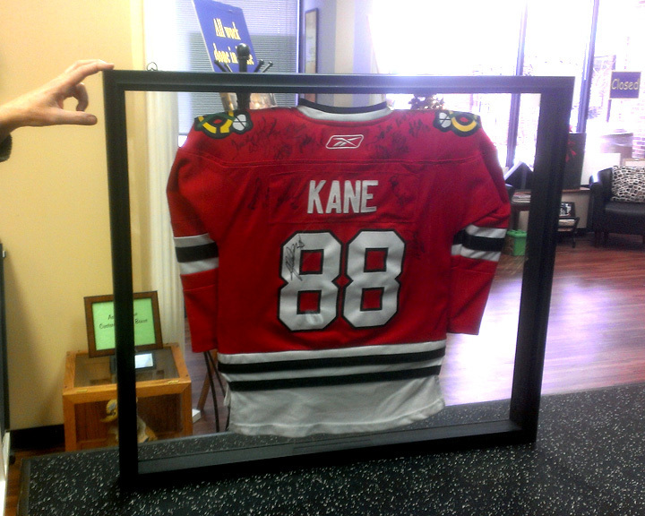 two sided framed jersey