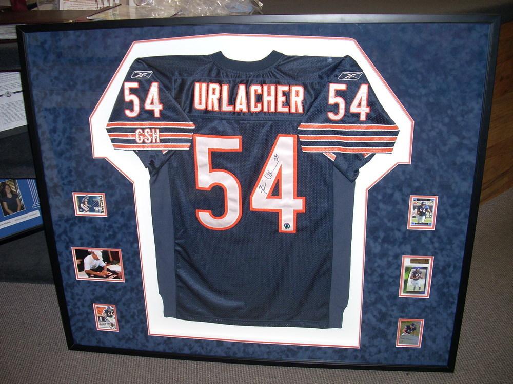 urlacher framed jersey
