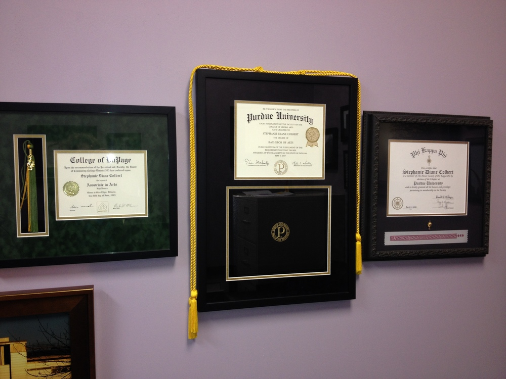 Custom High School or College Diploma, Certificate Framing ...