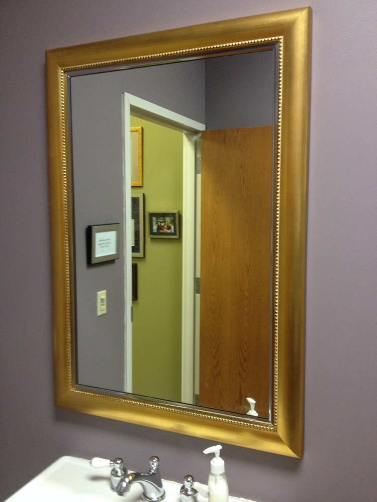 Custom cut mirrors mirror frames naperville il for Custom made mirrors for bathrooms
