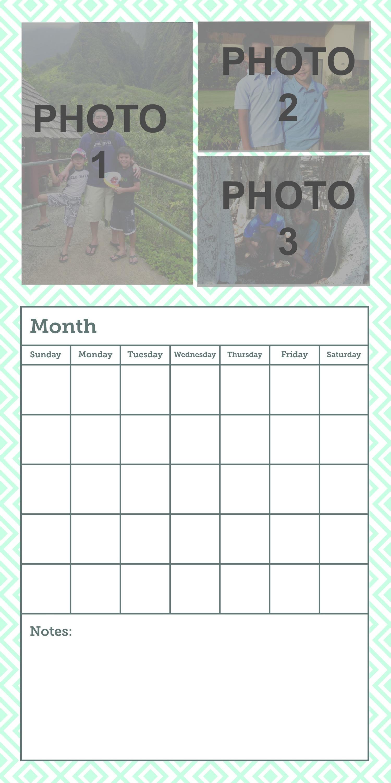 Calendar 18x36 Image Upload Slzqqc