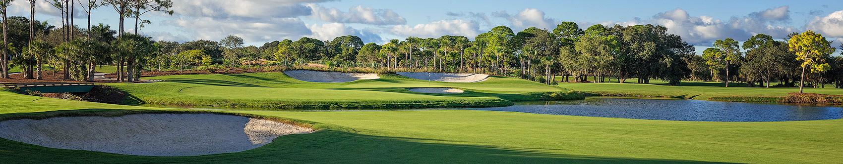 <div class='title'>           The Oaks Club, Osprey, Florida         </div>                 <div class='description'>           Long shadows on the 9th, The Heron Course, The Oaks Club, Osprey, Florida.         </div>
