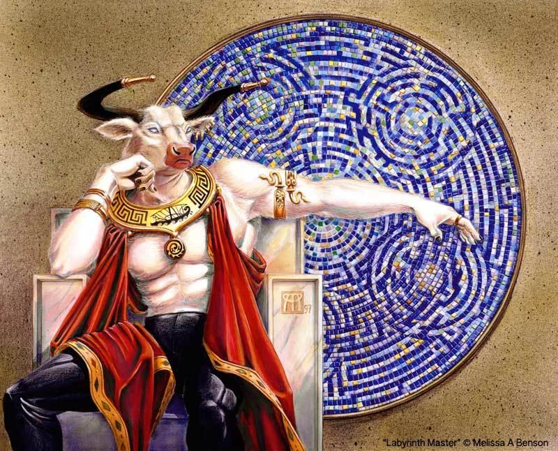 Labyrinth master aka minotaur with mosaic gny8j6