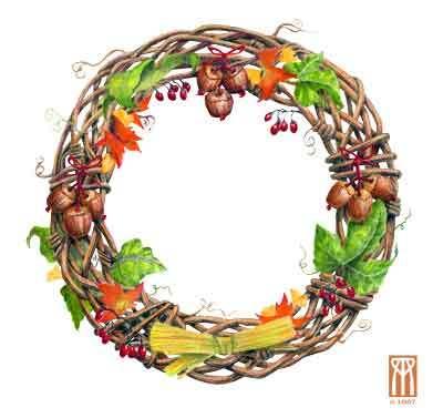 Mabon wreath fdxfbv