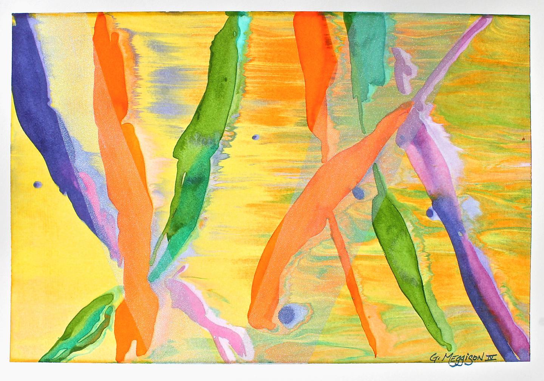 Confetti 14 x20 watercolor orig gtc38w