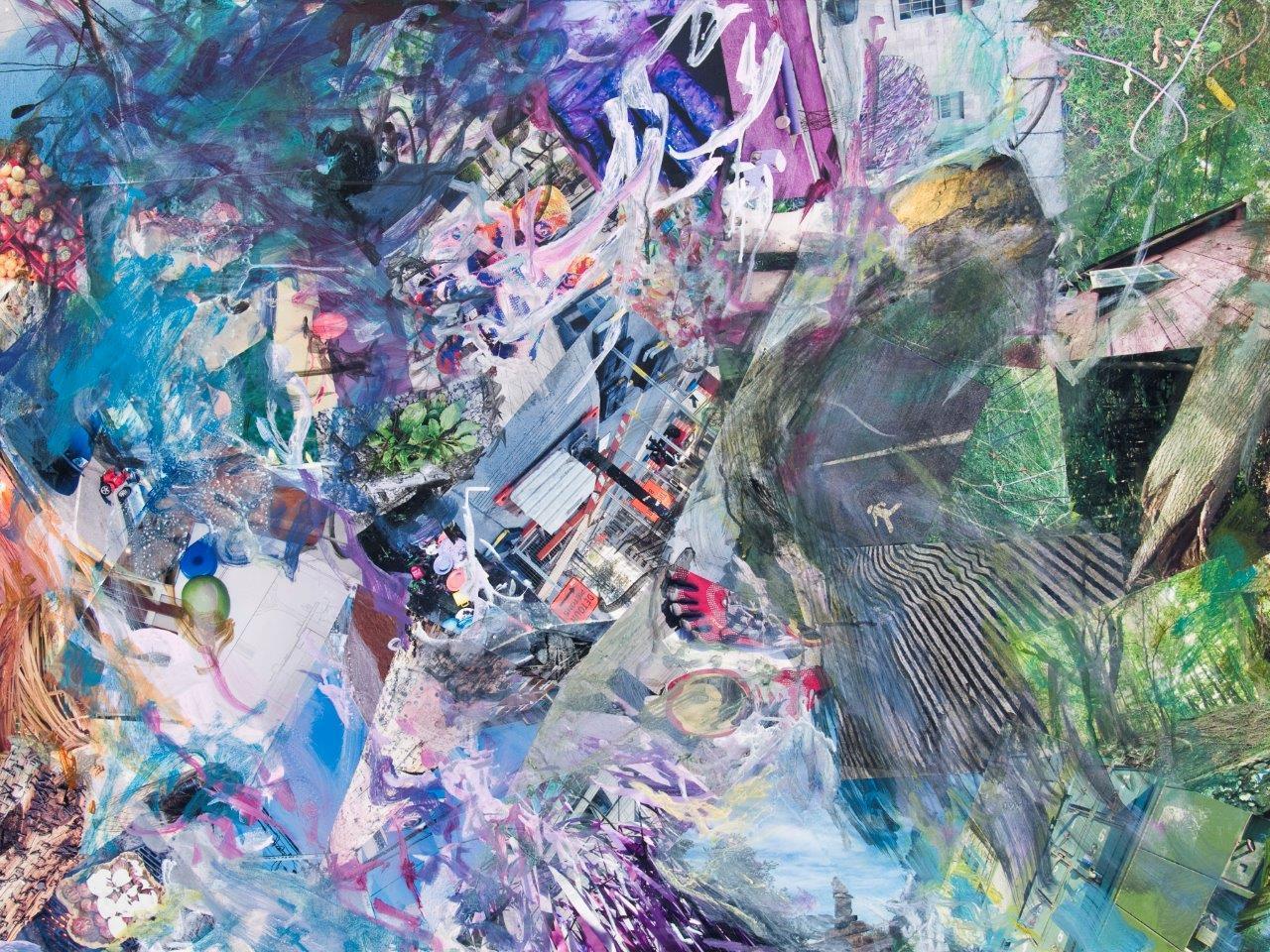 Birdman on a ledge 45x60 okltnx