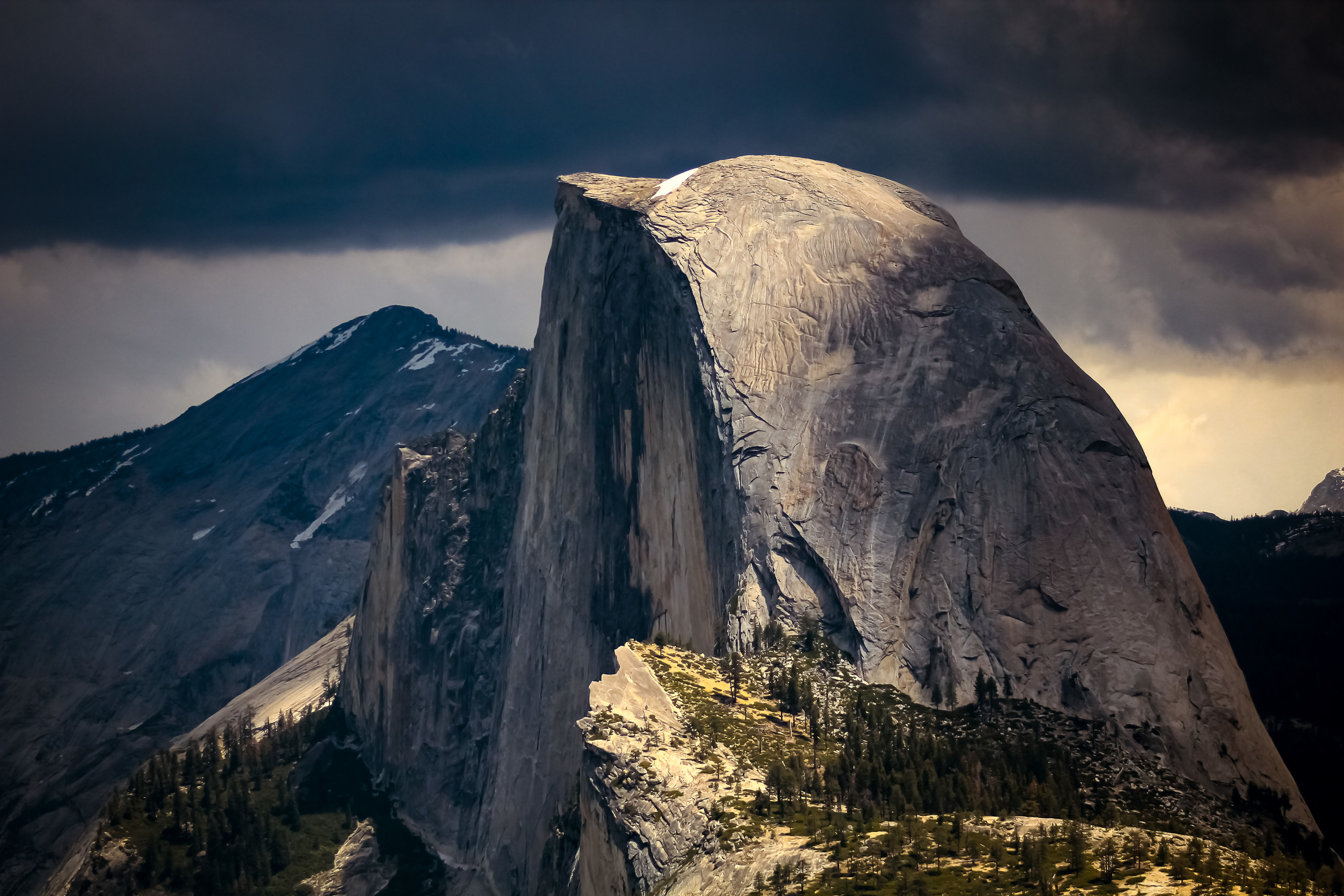 <div class='title'>           Half Dome         </div>                 <div class='description'>           Half Dome as seen from Glacier Point. Yosemite National Park, California. May, 2016.         </div>