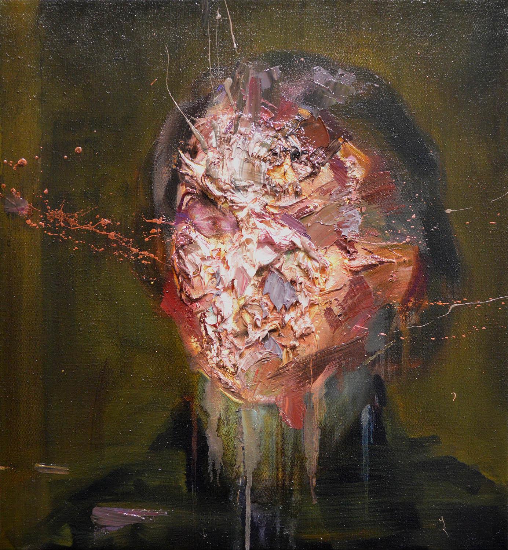 Mathieu Laca, Enigmatic Portrait, 59 x 55 cm, olio su lino, 2016-2017