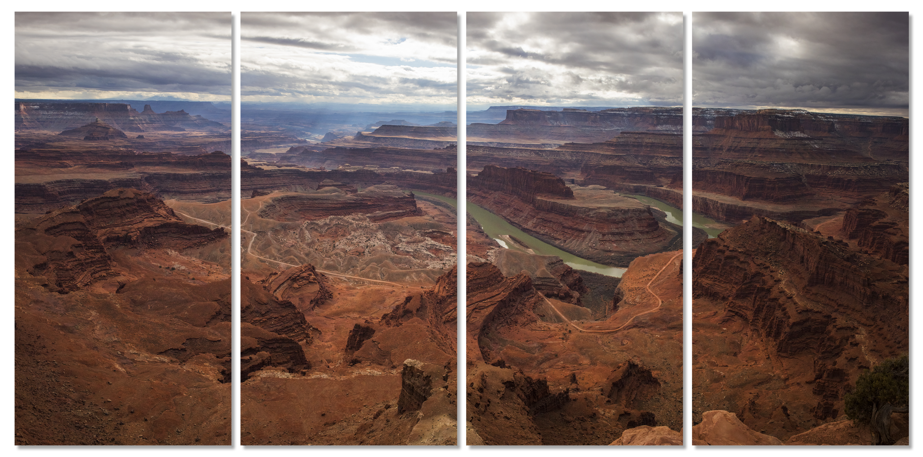 Dead horse point 4 panel art wall dpdqao