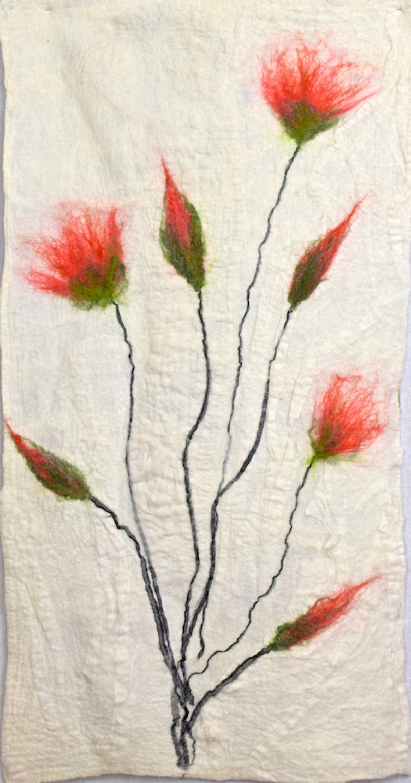 Coral Colored Flowers Art Feltinart