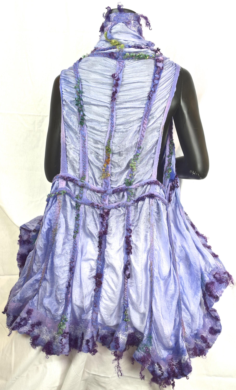 Purple felted vest 613 rzxrts