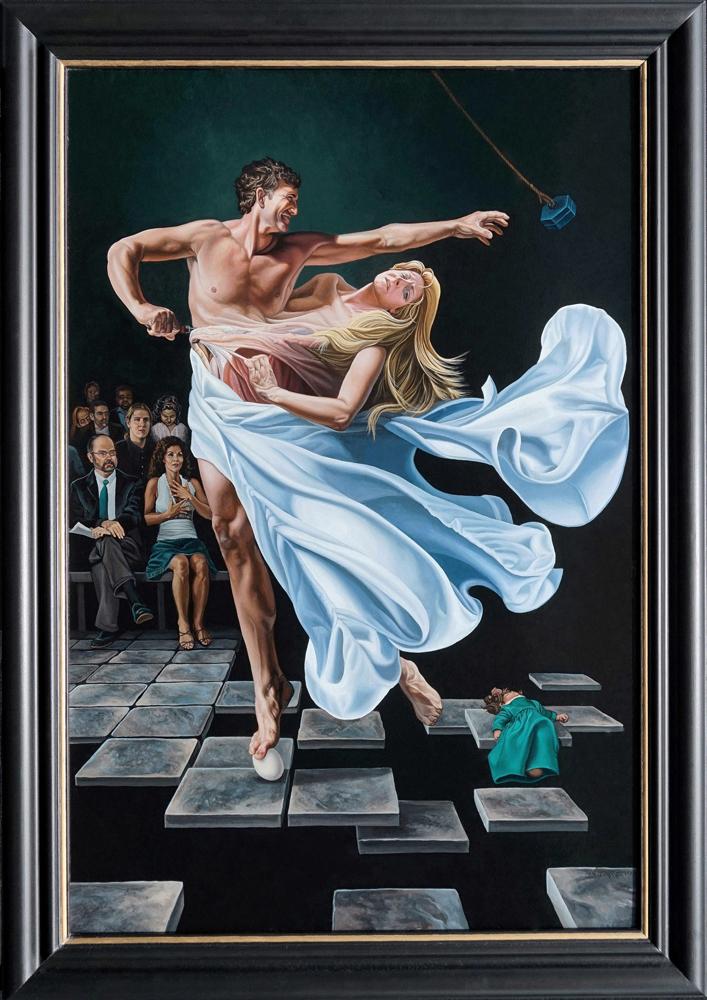 Two To Tango Divorce Art Print Kevin Grass Fine Art