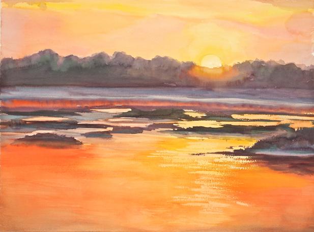 Fernandina sunrise 2 18 x24 original wl1zez