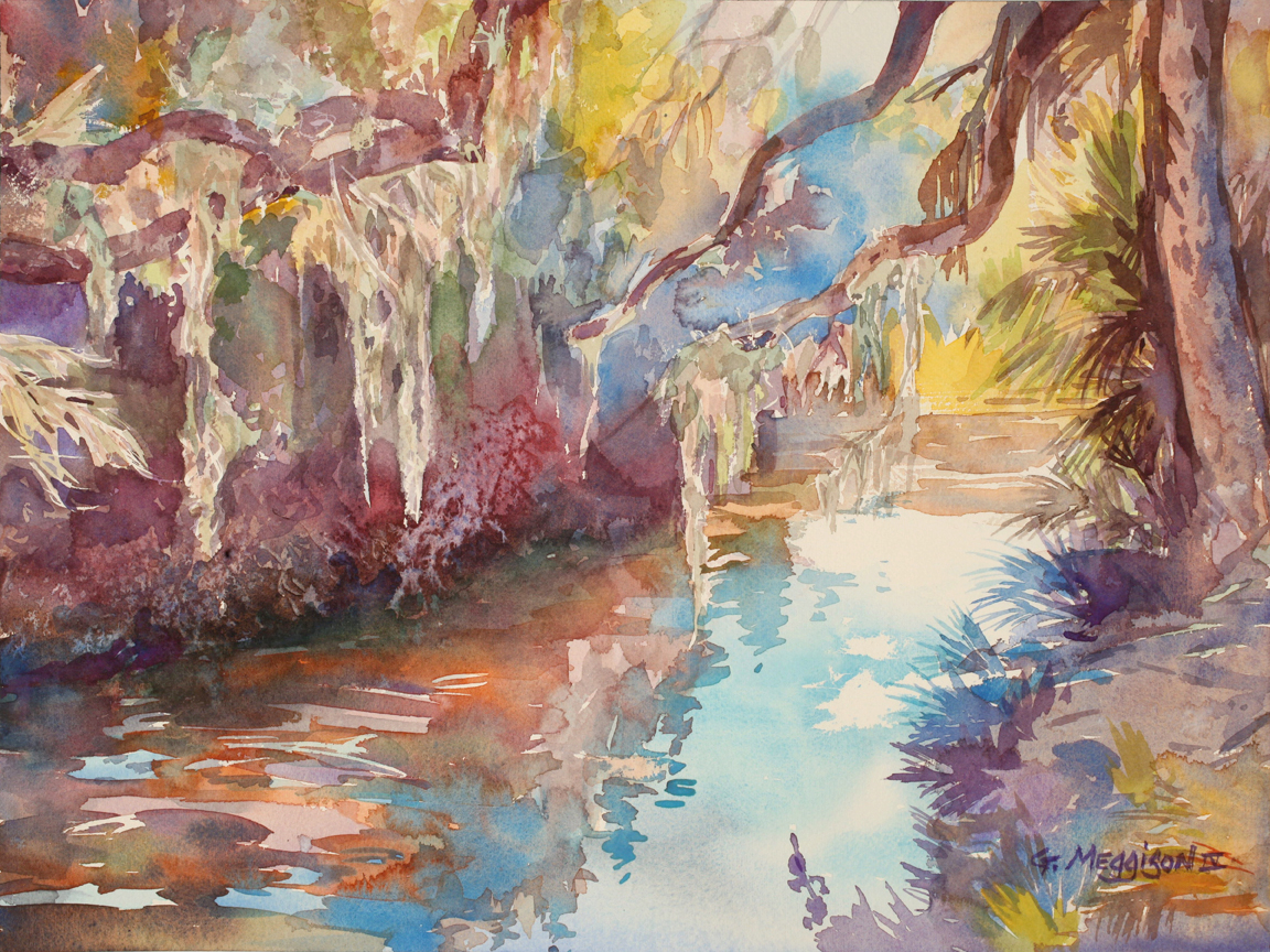 Matanzas river 16 22 x 12 22 watercolor landscapes original h4rhgp