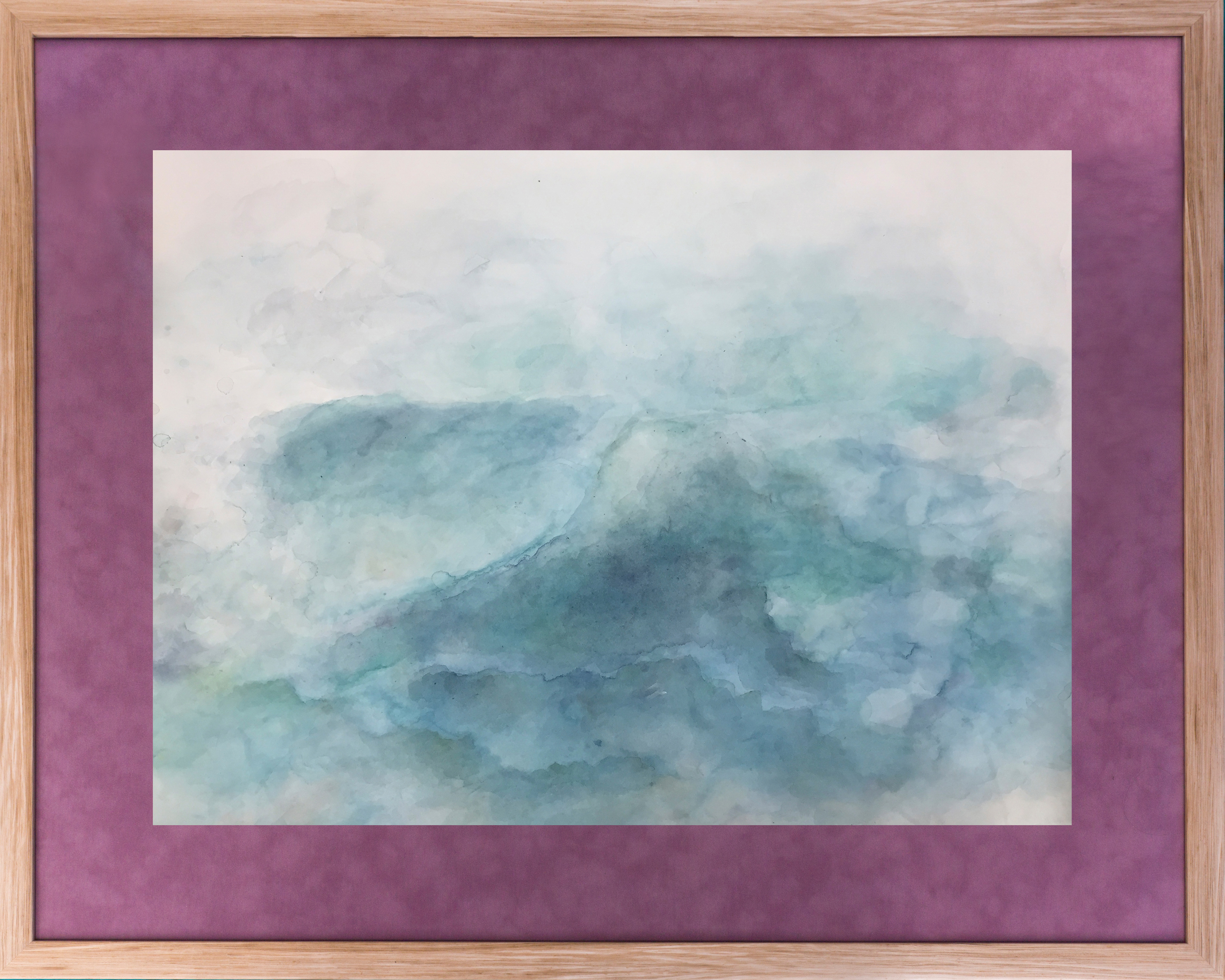 Kaplan samantha calm seas watercolor on stonehenge paper 32x40  700 m3xxhw