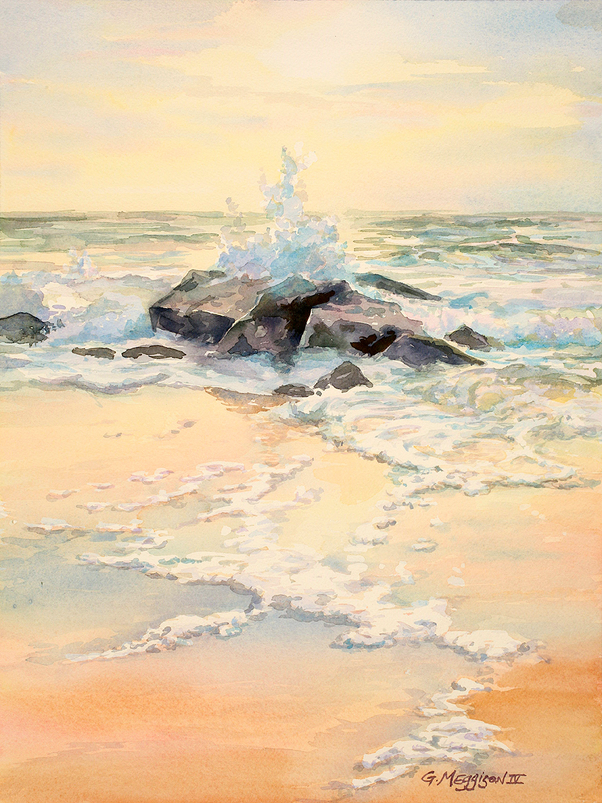 The jetties of porpoise point 12 22 x 16 22 wcl original bmmcby