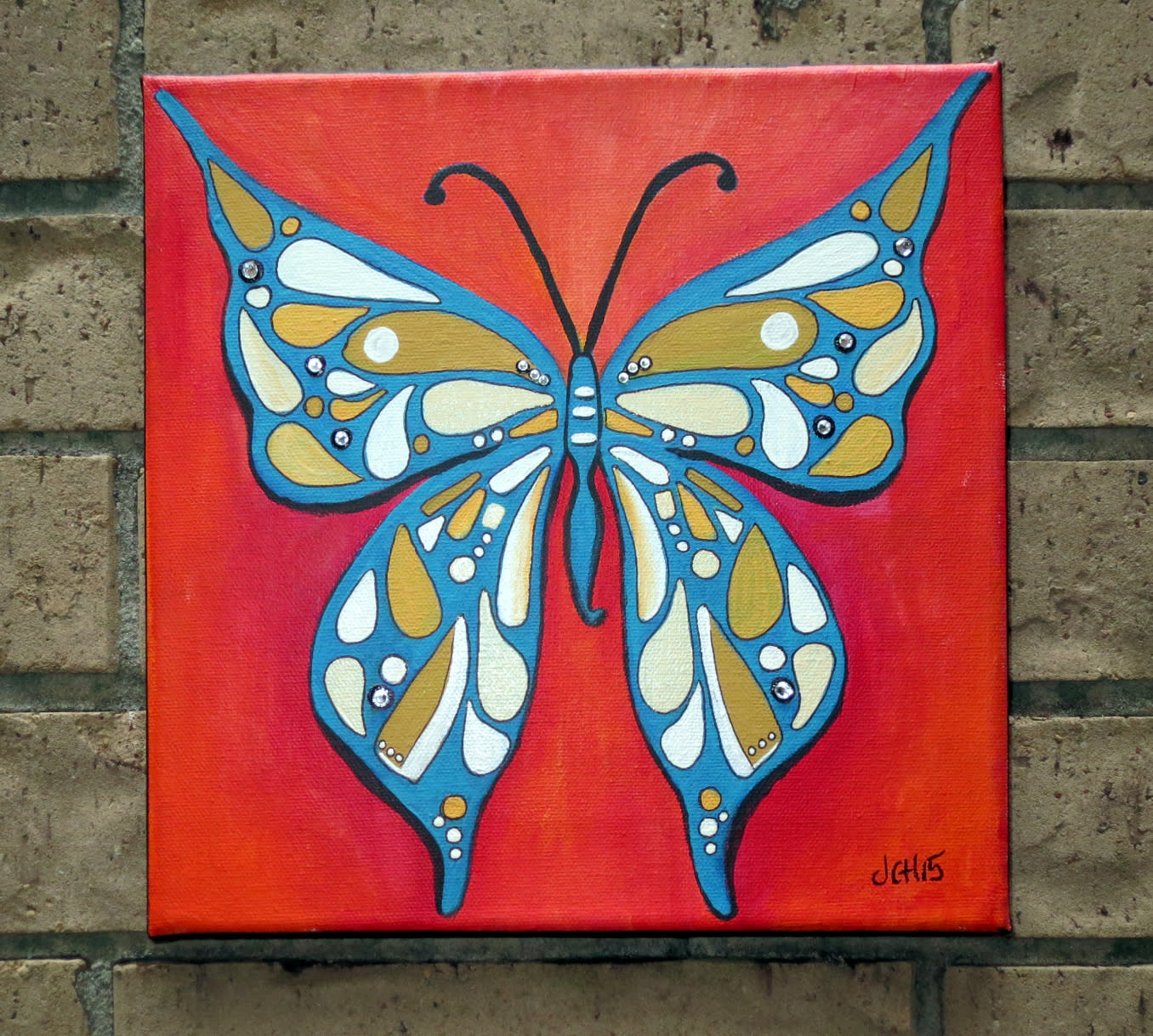 Groovy butterfly outside wall b9ag8y