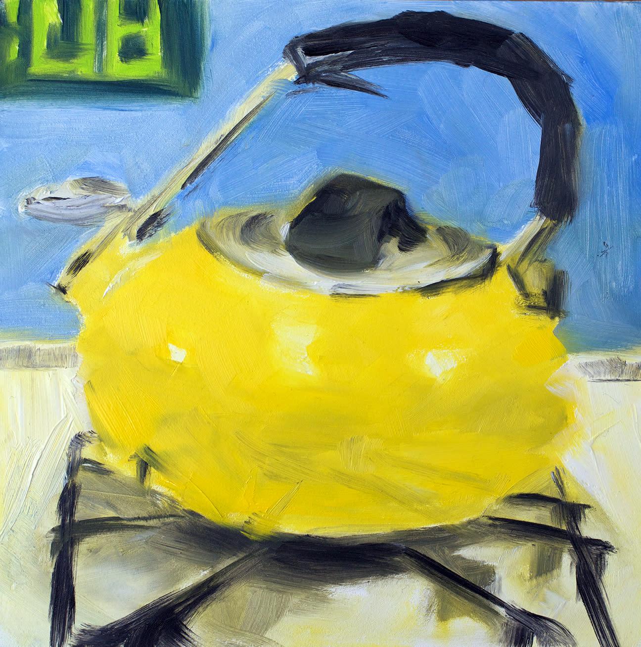 Yellow tea kettle by paul william artist tm2juv
