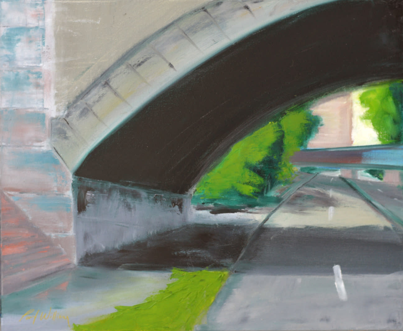 Bu bridge overpass by paul william artist af9hox