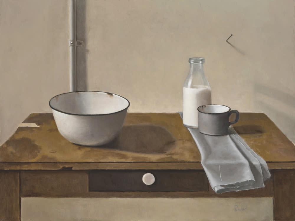 Power enamel bowl with milk bottle 1000 bk5sk0