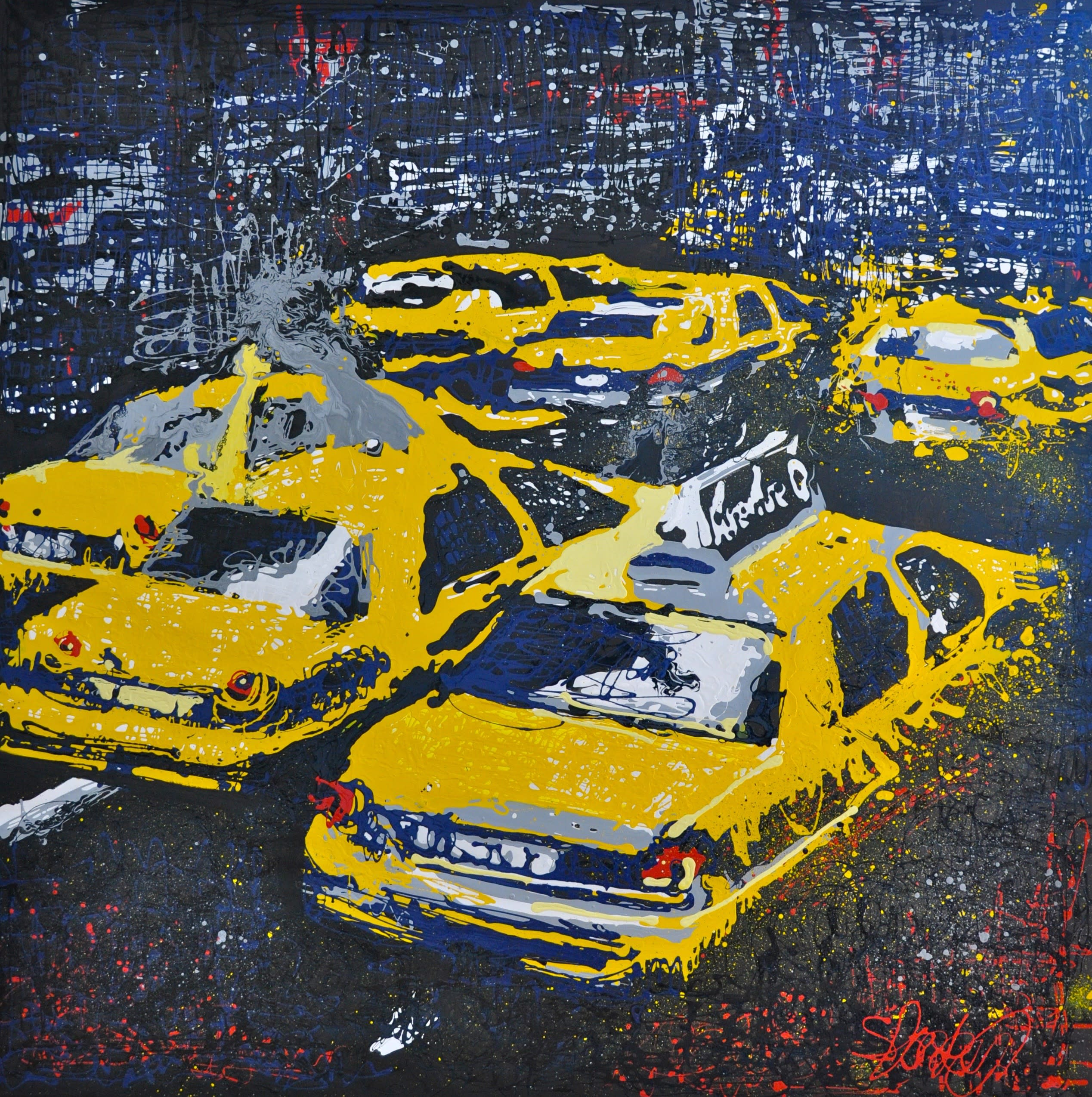 New york taxis 200x200cm rrfwei