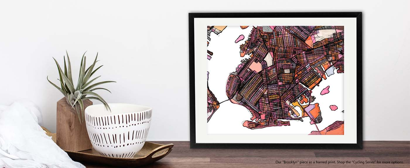 <div class='title'>           Abstract Map Print – Modern Map Art of BROOKLYN. Gift Ideas | Neighborhood Print | Modern Wall Art | Abstract City Print         </div>                 <div class='description'>           Neighborhood Map Print of Brooklyn by Carland Cartography. Available in Several sizes.         </div>