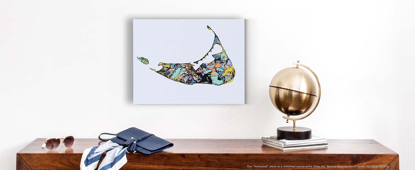 <div class='title'>           Gift Ideas – Modern Travel Art of NANTUCKET. Coastal Art   Island Print   Modern Wall Art   Abstract Beach Art         </div>                 <div class='description'>           Contemporary Wall Art for Sale by Carland Cartography. Nantucket prints in many sizes.         </div>