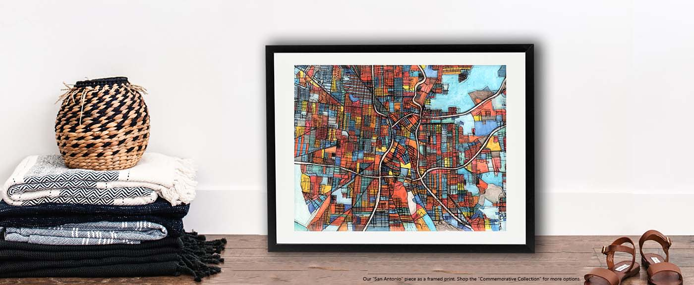 <div class='title'>           Modern Map Art – Abstract City Map of SAN ANTONIO - Neighborhood Map Print | City Neighborhood Art | City Travel Print | City Neighborhood Print | Modern City Map          </div>                 <div class='description'>           San Antonio Modern Wall Art for Sale by Carland Cartography. Shop prints as framed or unframed wall art.          </div>