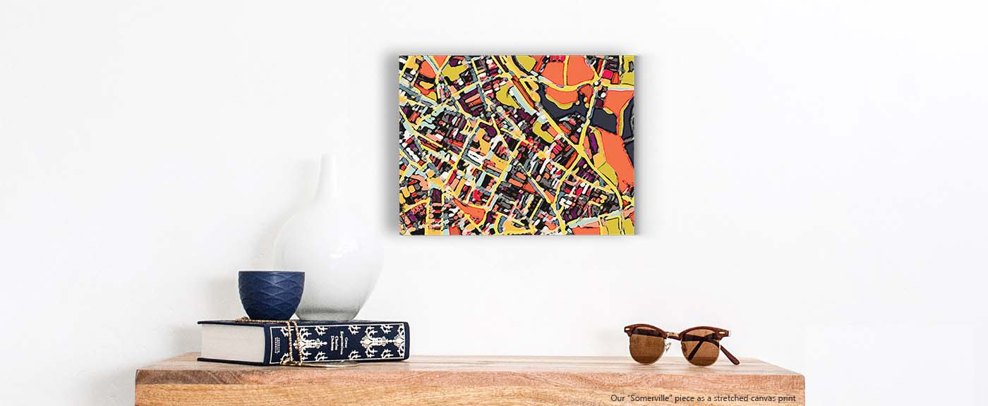 <div class='title'>           Contemporary Boston Art - Abstract Map Print of SOMERVILLE. Housewarming Present | Boston City Print | Modern Map Art         </div>                 <div class='description'>           Shop our selection of Boston Prints by Carland Cartography. We offer several sizes.          </div>